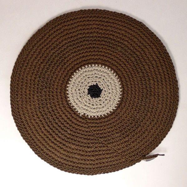 Dywanik okrągły pleciony ze sznurka Motarnia.