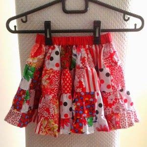 Learn how to make an adorable and quilty little girls skirt out of the scraps you have laying around. This Stash Busting Girls' Skirt Pattern will delight any little lady who slips it on.