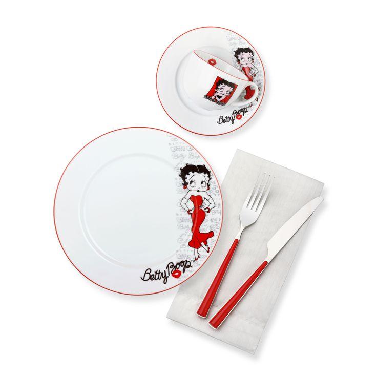 Bernardo Betty Boop Kahvaltı Takımı / Breakfast Set #bernardo #bettyboop #red #tabledesign #kitchen #mutfak #kirmizi