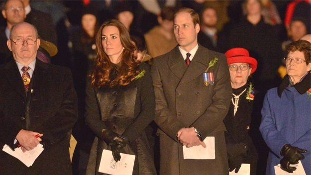 In a surprise change to their schedule, the Duke and Duchess of Cambridge attended the ANZAC War Memorial for the Dawn Service this morning.
