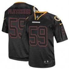 Elite Mens Nike Washington Redskins http://#59 London Fletcher Lights Out Black NFL Jersey $129.99