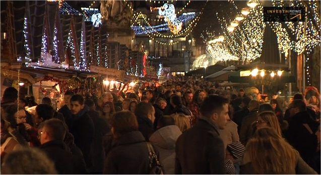 Reims, le 2ème marché de Noël de France avec 1,8 million de visiteurs