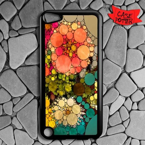 Pattern Round Full Color iPod 5 Black Case