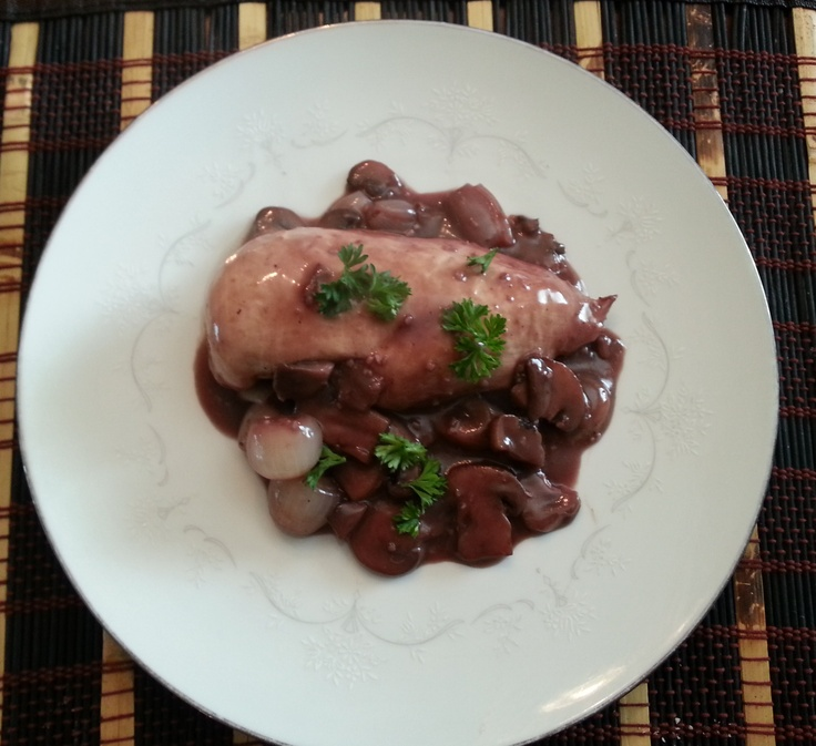 Chicken with Mushrooms and Pearl Onions in Red Wine Reduction http ...