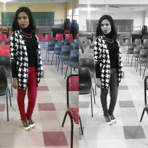 Blazer #BlackWhiteRed  #TB