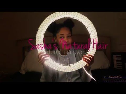 Quick, Easy, and Cheap Diy Ring Light for Under $25 (tutorial) |Sashasnaturalhair - YouTube
