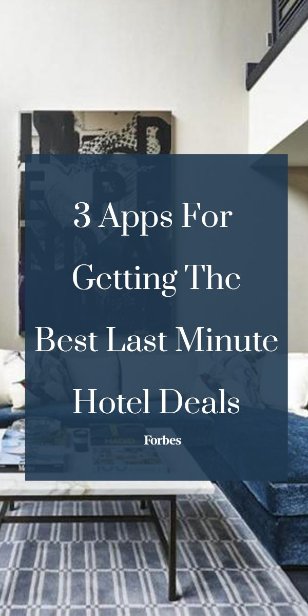 Last minute hotel deals were once hard to come by, but no longer. These three apps are shaking up the way we book travel by making last minute hotel deals popular again, and with good reason.