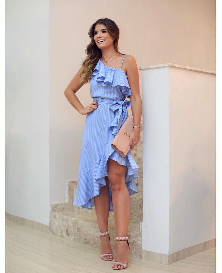 Vestido casual azul