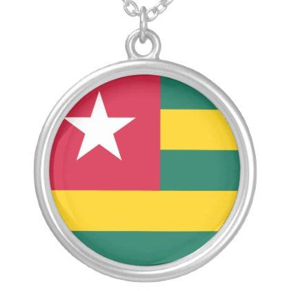 Togo Flag Silver Plated Necklace - jewelry jewellery unique special diy gift present