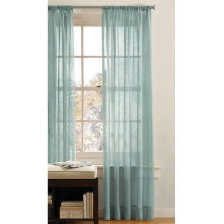 Better Homes and Gardens Canopy Crushed Voile Drapery Panel, Green