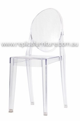 Replica Victoria Ghost Chair -- This chic replica of Philippe Starck's Victoria Ghost Chair (2006 Design) retains the timeless elegance of the baroque styling in an ultra modern chair.