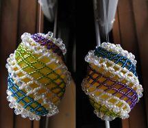 Sparkly Spiral Easter Egg Ornament