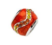 Amore & Baci 20405 orange enamel and zirconia bead