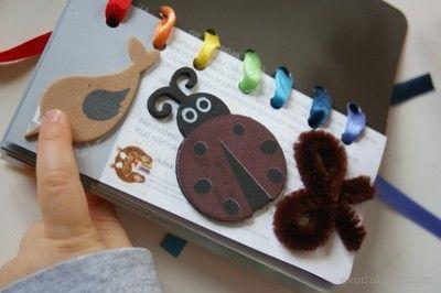 Nauka kolorów dla maluchów- własnoręcznie przygotowana książeczka dla dziecka. Science colors for maluchów- own booklet prepared for the child.