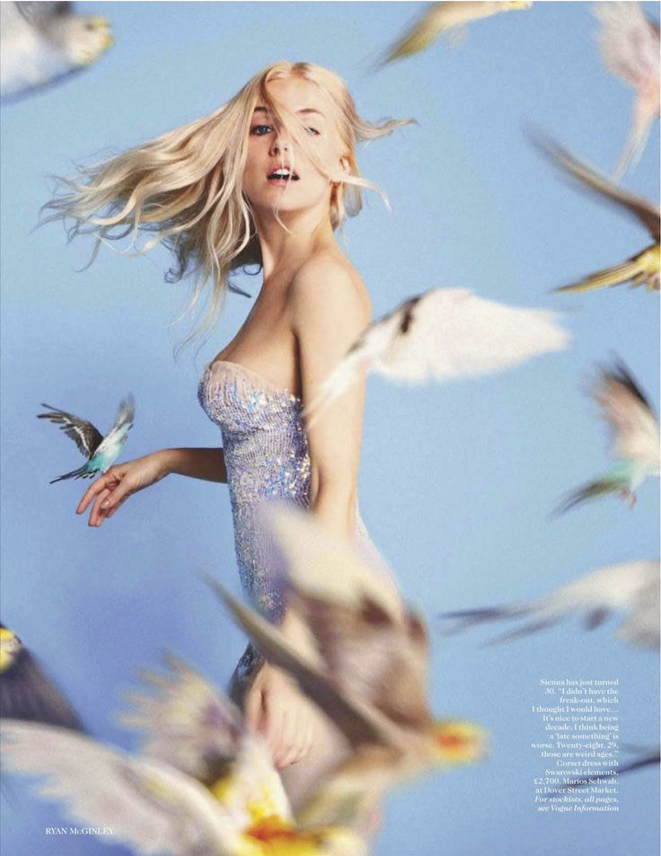 Sienna Miller by Ryan McGinley for vogue UK