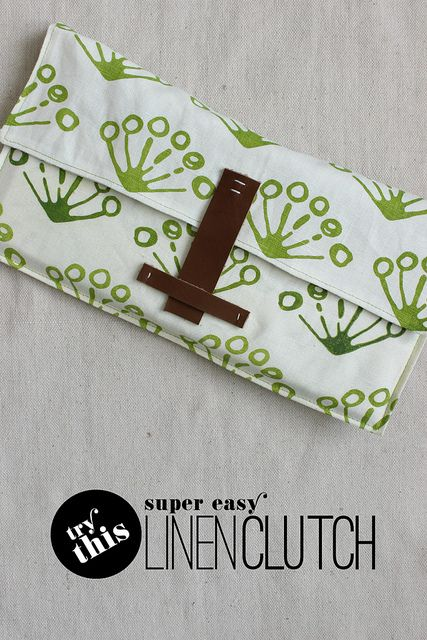 DIY Super Easy Linen Clutch Tutorial (I'd add interfacing to this)