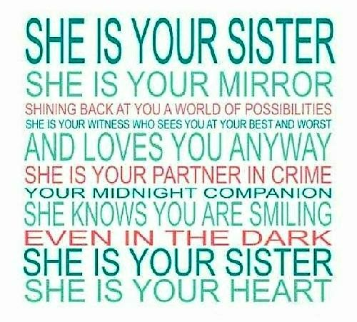 """""""SHE IS YOUR SISTER!"""""""