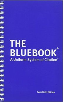 Law school supplies: Bluebook. I guarantee you that you will have to have this exact book for your legal research and writing class, so save your money and order it online instead of through your school bookstore. BUY the book, don't rent it, because you will use this book over and over again throughout your legal career.