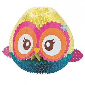 Owl Party Supplies, Owl Party Shaped Centerpieces, Decorations