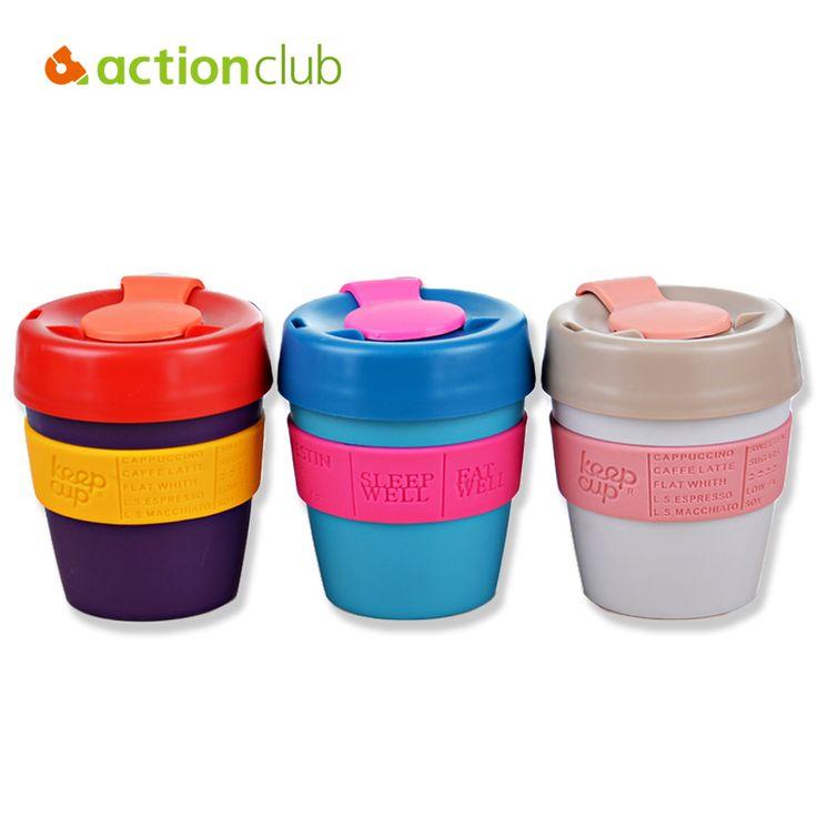 Actionclub Mantener Taza Marca Llevar las Tazas de Café 2016 Ventas Calientes Mantener la Taza De Café Con Tapa Taza De Viaje