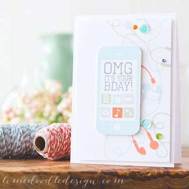 Debby Hughes - Lime Doodle Design - Clearly Besotted Stamps June release - Simon Says Stamp & Hero Arts inks