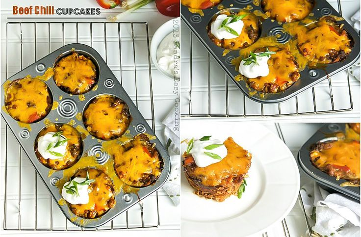 Sandra's Easy Cooking: Beef Chili Cupcakes
