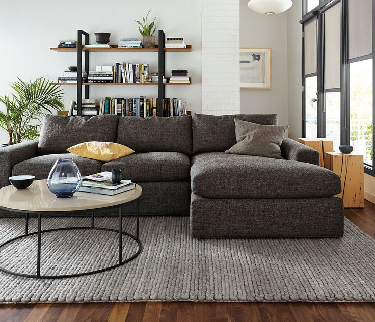 Modern Living Room Furniture   Room U0026 Board. Sectional ...
