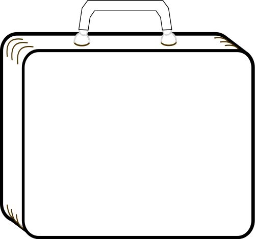 suitcase outline