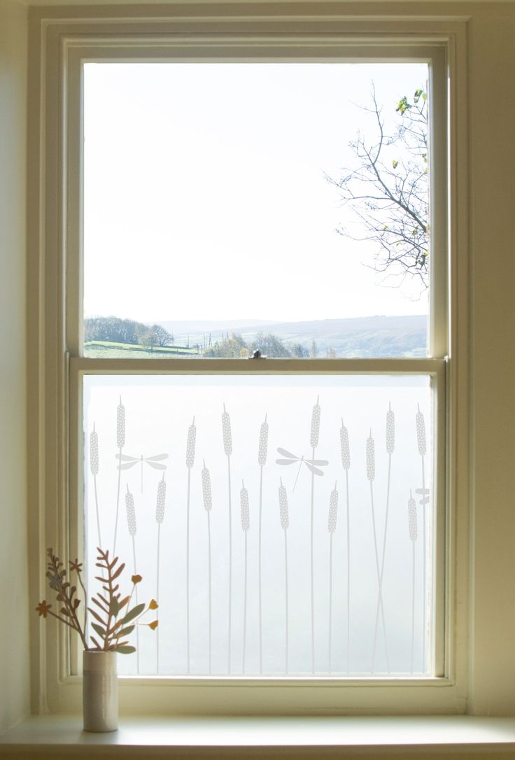 Dragonfly Window Film                      – Hannah Nunn         #glass #decor #patterned #windowfilm #frosted