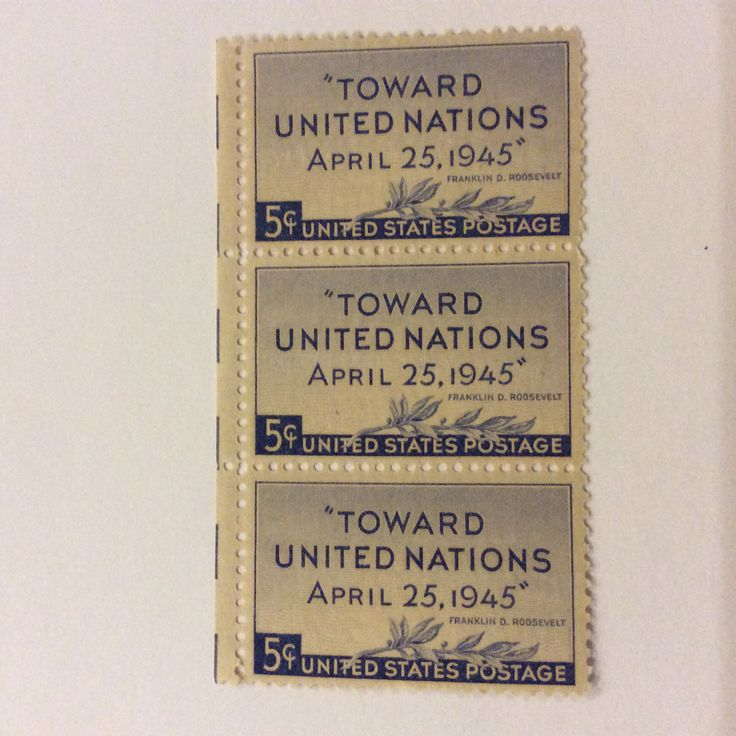 Vintage commemorating the UN Conference of 1945.
