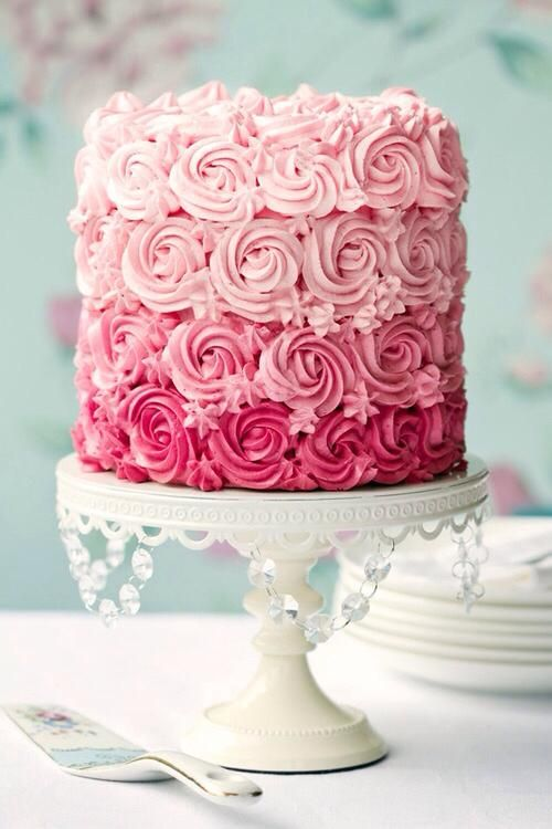 Frosted in shades of Pink Rosettes