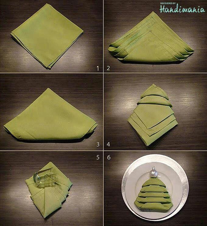ber ideen zu servietten falten tannenbaum auf. Black Bedroom Furniture Sets. Home Design Ideas