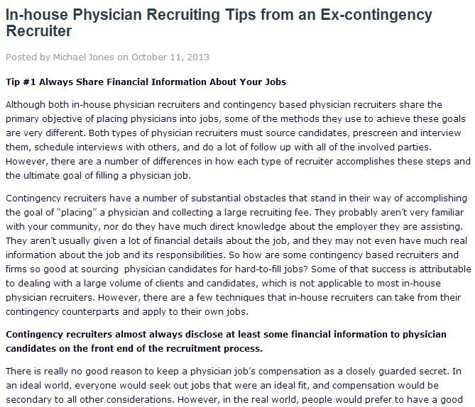 A Job Posting Is Not A Job Description  Physician Recruiter