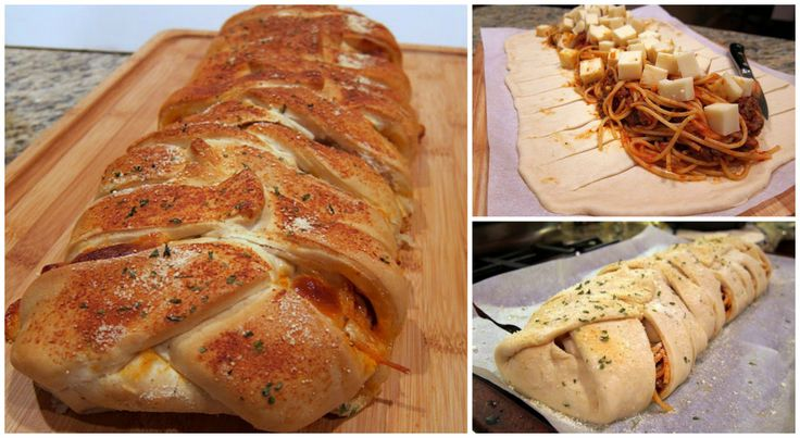 Baked Spaghetti and Garlic Bread In One | DIY Cozy Home