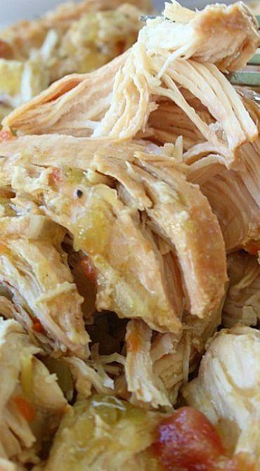 Crock Pot Green Chile Enchilada Chicken