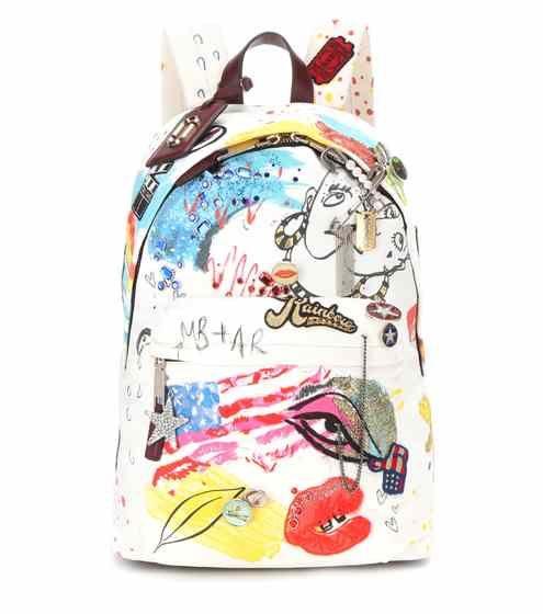 Embellished printed backpack   Marc Jacobs