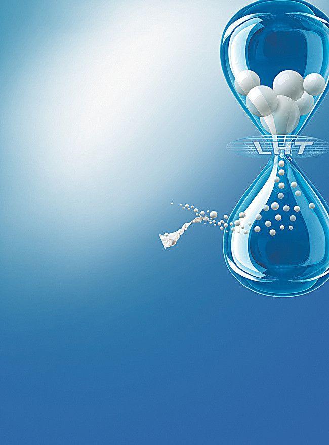 خلفية زرقاء بسيطة وقت الساعة الرملية المبدع Blue Backgrounds Background Projects To Try