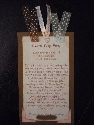 Favorite Things party inspiration: Invitation Ideas, Parties Ideas, Small Gifts, Party Ideas