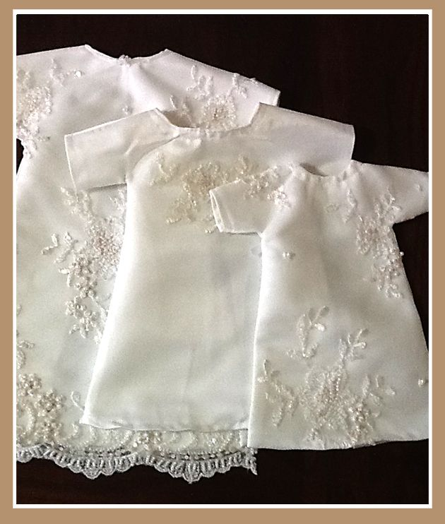 Burial gowns for preemies made from my friend's wedding dress... She is Amazing.