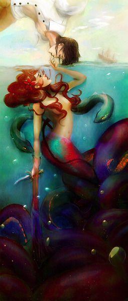 Ariel & Eric painting | S E A S T A R S | Pinterest