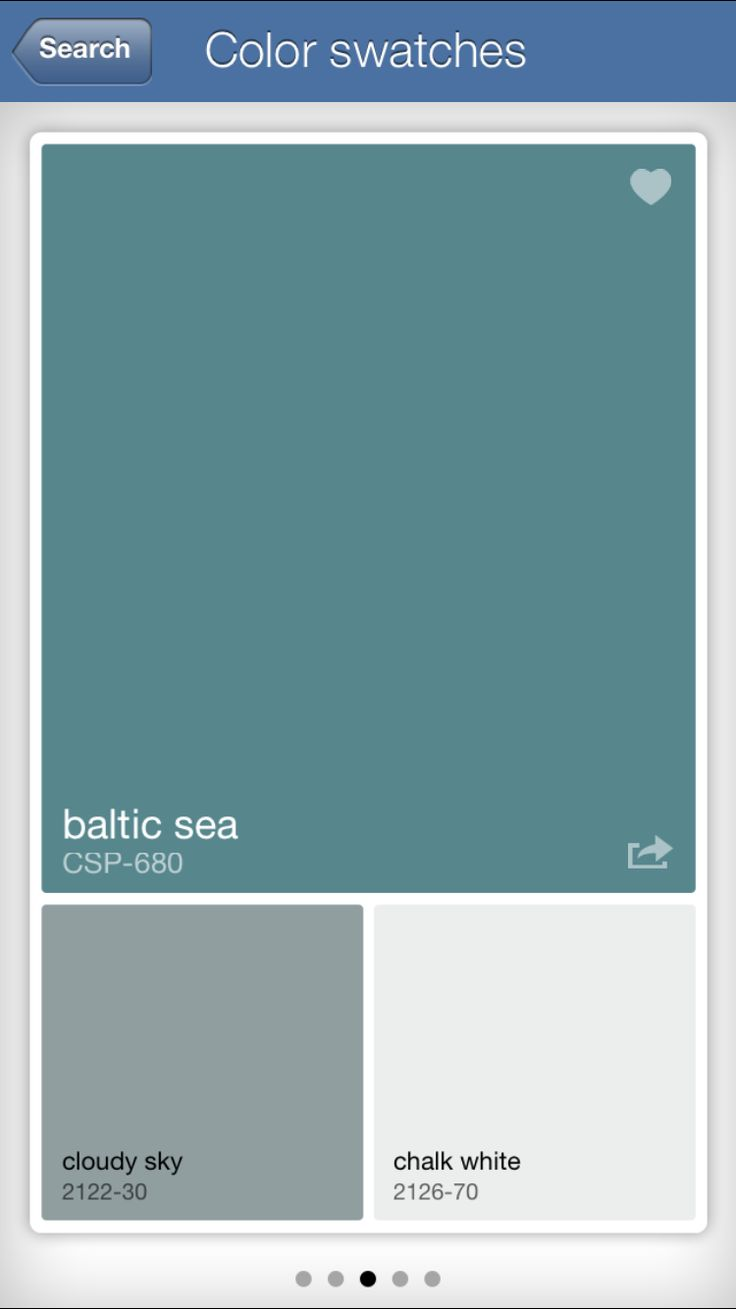 BM Baltic Sea (CSP-680) with BM Cloudy Sky (2122-30) and white accents/baseboards etc. basement den