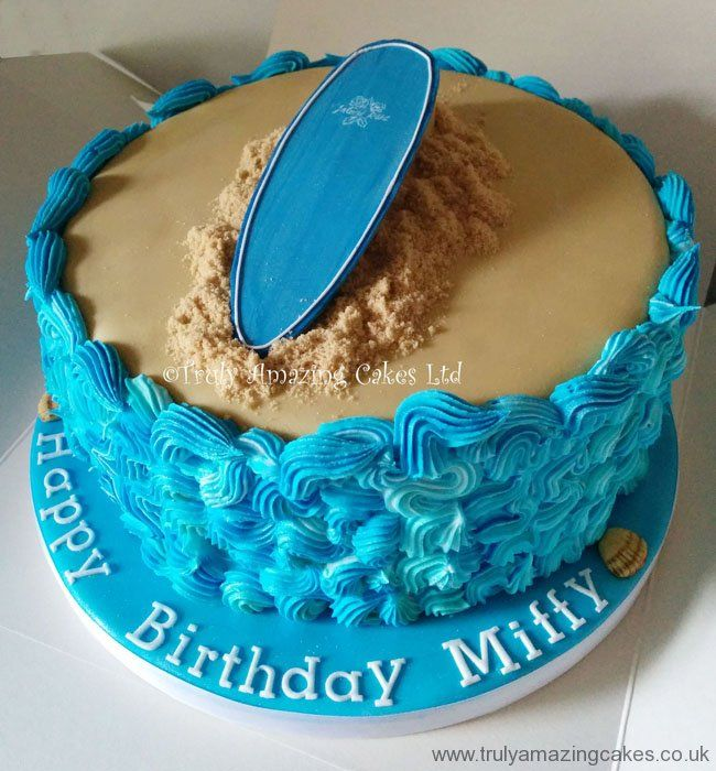 30th surfing cake - Google Search