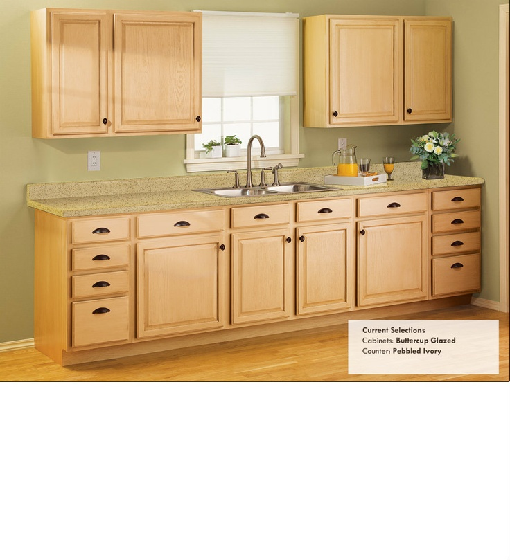 Low Budget Kitchen Cabinets: Counters Are Close To Current Color