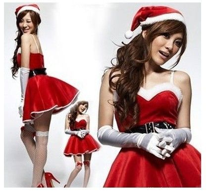 The new red shawl Christmas Christmas party dress dress uniform temptation ds stage performance show $8.29