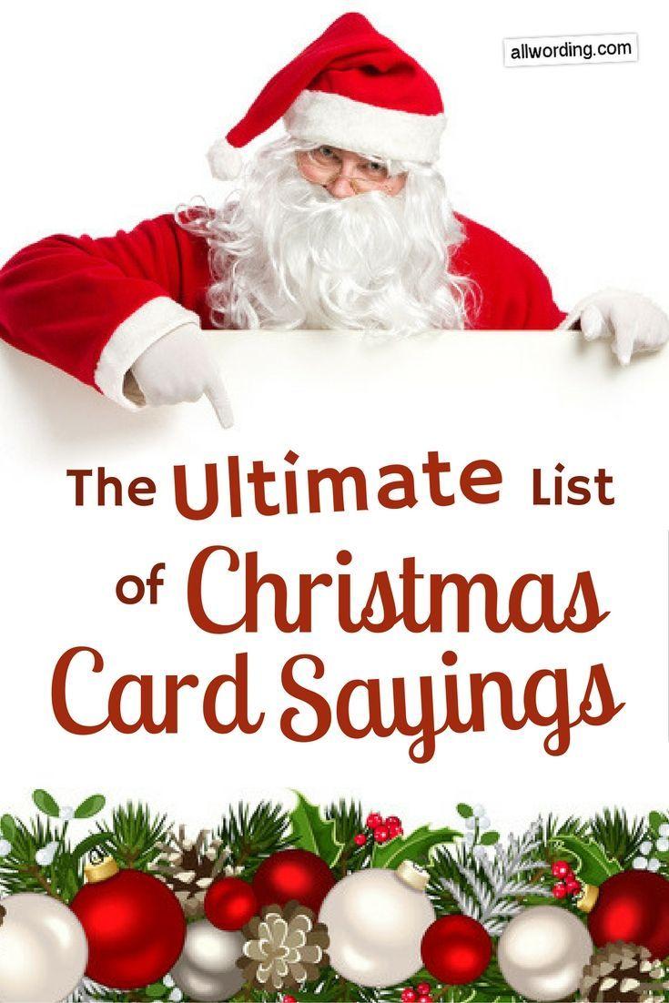 The Ultimate List Of Christmas Card Sayings Words For Christmas