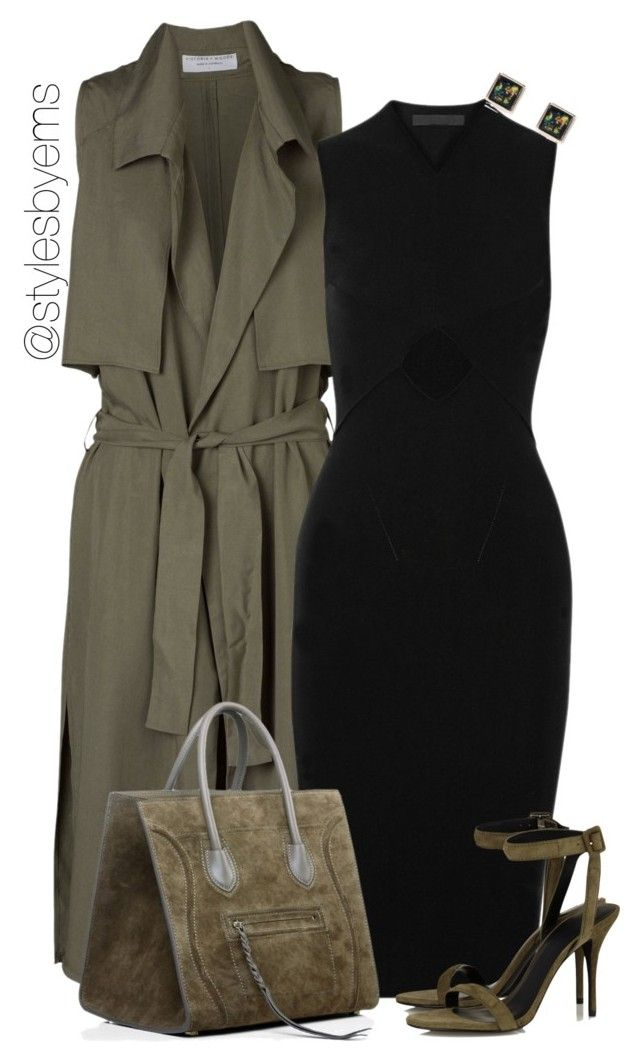 khaki km dress, tan sandals, green/black purse or black and white purse, gold and black accessories. deep red/maroon lips.