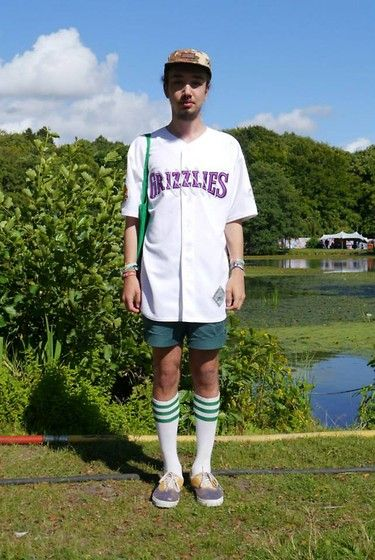 Get this look: http://lb.nu/look/5242288  More looks by Timothy Pettersson: http://lb.nu/ttimothy  Items in this look:  2nd Hand Grizzlies Baseball Jersey, I Love Ugly, 2nd Hand Shorts, American Apparel Hi Socks, Vans Skate Shoes