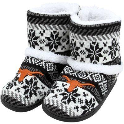 Texas Longhorns Ladies Snowflake Booties - Gray - $29.95