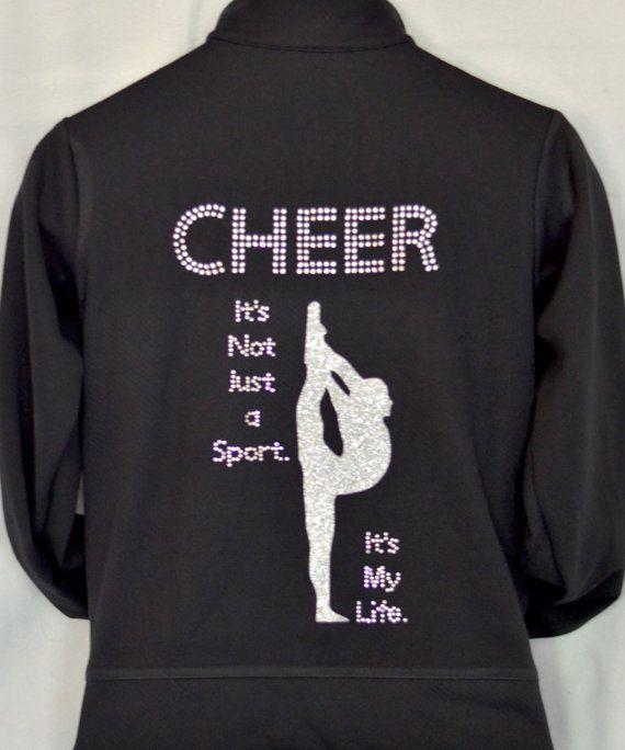 Cheer jacket cheerleading jacket cheer zip-up by AllThatSass5678