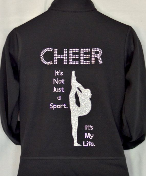 Cheer jacket cheerleading jacket cheer zip-up by AllThatSass5678
